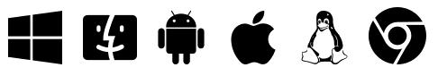 Logos des appareils compatibles avec le VPN GyberGhost